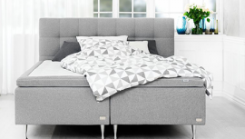 Grijze GOLD boxspring
